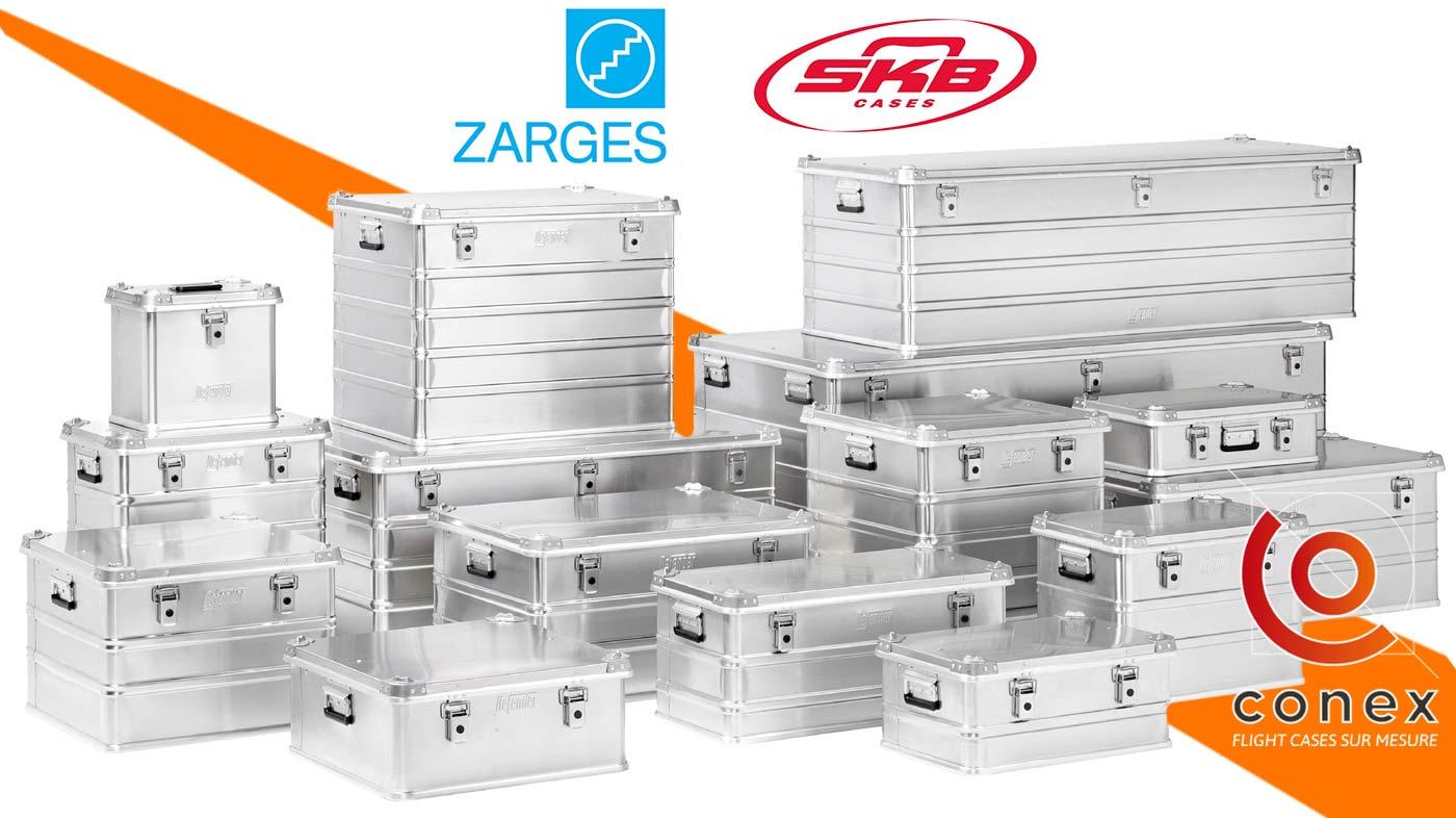 caisses aluminium zarges et skb vendu par conex-online.com
