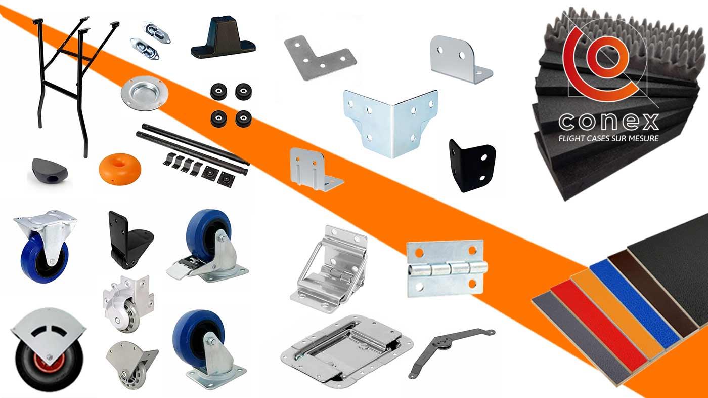 accessoires de flight case conex